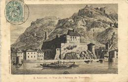 Illustrateur ARDECHE  Vue Du Chateau De Tournon  RV PUB  Les Produits Alimentaires Maggi - Tournon