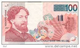 Belgique Belgie : 100 Francs - PAS PLIE - NIET GEPLOOID - Ensor - Kwaliteit : AU - 100 Francs