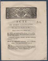 FRDoc  1792 Acte D'accusation De Complot Contre La Sureté De L'état ! - Decrees & Laws
