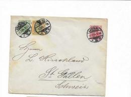 Ganzsachenbrief Aus Hamburg In Die Schweiz 1904 - Covers & Documents