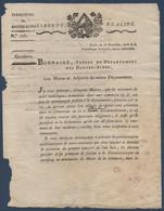 FRDoc  1800  Instruction Du Préfet Des Hautes-Alpes Pour La Paie Des Ecclésiastiques  ! - Decrees & Laws