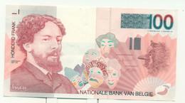 Belgique Belgie : 100 Francs - Lichte Plooi - Pli Léger - Ensor - 100 Francs