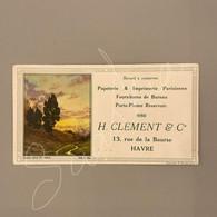 #VP198 - Buvard Papeterie & Imprimerie Parisienne Fourniture Bureau H. Clement & Cie Havre - Stationeries (flat Articles)