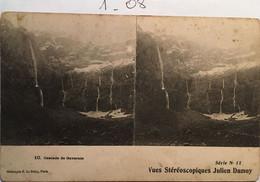 CPA - Vues Stéréoscopiques Julien Damoy Série N°11, Cascade De Gavarnie, Héliotypie Le Delay N°10 (65 Hautes Pyrénées) - Stereoscope Cards