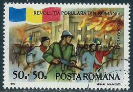 Rumania - Sublevación Popular Rumania - Año1990 - Catalogo Yvert N.º 3896 - Usado - - Usati