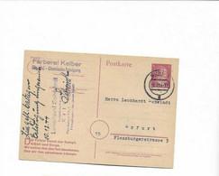 Karte Aus Suhl Nach Erfurt 1944 - Cartas