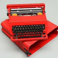 OLIVETTI, Machine à écrire Portable VALENTINE, 1969, Ettore Sottsass Designer, Avec Son Coffret, TBE - Sonstige