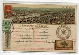 BELGIQUE LIEGE Panorama De La Ville Carte à Completer écrite Timbrée 1909 Gaufrée     D09 2020 - Liège
