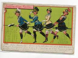 ALLEMAGNE Schneidige Reiter No 650 Femmes Militairres  Longue Lance Sous  Jupes Relevées  EROTISME  1906   D09 2020 - Non Classés