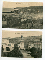 JERSEY 2 Cartes St Aubin General View 1907 Timb Place Statue Of Queen Victoria     D09 2020 - Jersey