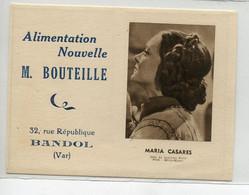 83 BANDOL Alimentation Nouvelle M BOUTEILLE 32 Rue République Calendrier 1948  -  Maria Casares  D09 2020 - Bandol