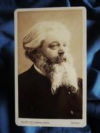Photo CDV Piquée Fils à Troyes - Beau Portrait Homme Barbu, Circa 1890 L396 - Oud (voor 1900)