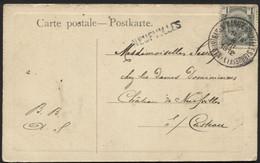 Gffe Origine NEUFVILLES + Ambt NAMUR NAMEN - MANAGE- BRUXELLES BRUSSEL S/CP Vers Casteau 1912 - Linear Postmarks