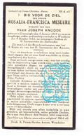 DP Rosalie Mesuere Meseure ° Lissewege Brugge 1855 † Wenduine De Haan 1932 X Joseph Knudde Cnudde - Andachtsbilder