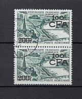 Réunion, Paire Timbre PA Bordeaux 100f CFA, YT 49 - Used Stamps