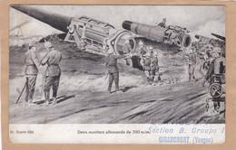 Deux Mortiers Allemands De 350 M/m - Service G.V.G. Section B. Groupe 1 Girancourt Vosges - War 1914-18