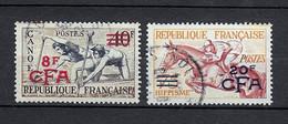 Réunion,  Timbre Canoe 8f Et Hippisme 20f CFA, YT 314 Et 318 - Used Stamps
