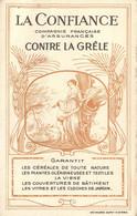 """PARIS 2° ARRONDISSEMENT - ASSURANCE """"LA CONFIANCE-GRÊLE"""" - 2, RUE FAVART - CARTE COMMERCIALE ANCIENNE (8 X 13 Cm) TB - Bank & Insurance"""