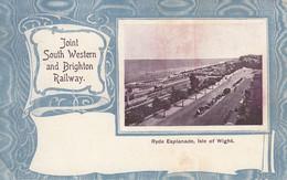 BRIGHTON -RYDE ESPLANADE ISLE OF WIGHT FORMAT 12.5CMS X 7.8 CMS - Brighton