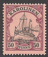 Deutsche Kolonien Karolinen Michel Nummer 14 Postfrisch - Colony: Caroline Islands