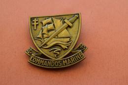 INSIGNE DE BERET COMMANDOS MARINE - Navy