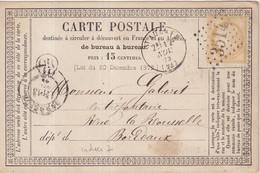 "FRANCE : CP PRECURSEUR . GC 3514. "" ST AULAYE "" . (23) . N° 59 . 1873 . DATEE DE CHENAUD . - 1849-1876: Periodo Clásico"