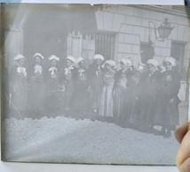SAVOIE - Foncouverte-la- Toussuire / St Sorlin D'Arves - Costumes Régionaux - Plaque Verre 8,5x10 - BE - Glass Slides