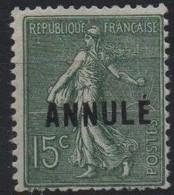 France Maury C.I. 10 (Yvert 130-CI 1) * Semeuse Lignée 15c Vert-olive - Cours D'Instruction