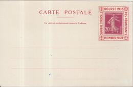 "FRANCE : CP . PORTE TIMBRE . TYPE SEMEUSE . "" EXPO DE LA CSNTP PARIS ""  .1935 . - Philatelic Fairs"
