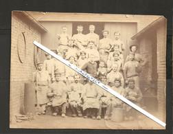 HERSTAL-FONDERIE GILLON-PHOTO SUR CARTON ORIGINAL-AVANT-1900-DIMENSIONS+-13-17 CM-VOYEZ LES 2 SCANS-PIECE UNIQUE ! ! ! - Herstal