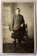CARTE PHOTO SOLDAT ÉCOSSAIS - Guerre 1914-18 - Assez BE - Guerre 1914-18