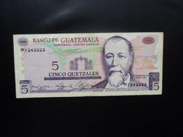 GUATEMALA * : 5 QUETZALES   7.1.1976    P 60b         TTB ** - Guatemala