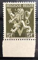België, 1944, 668-Cu, Kleurstreep Door 'B', Postfris **, OBP 15€+ - Curiosités