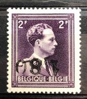 België, 1946, 744BB, Met Kopstaande Opdruk, Postfris **, OBP 14.5€ - Curiosités