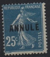 France Maury C.I. 41 II (Yvert 140-CI 3) * Semeuse Camée 25c Type II De Carnet - Cours D'Instruction