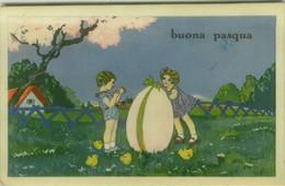 CECAMI PUBLISHED 1930s POSTCARD - KIDS WITH BIG EGG - N. 519/4 (BG1971) - Andere Illustrators