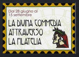 """2021 ITALIA """"DANTE LA DIVINA COMMEDIA ATTRAVERSO LA FILATELIA / INAUGURAZIONE MOSTRA"""" CARTOLINA ANN. 28.06.2021 (TORINO) - Other"""