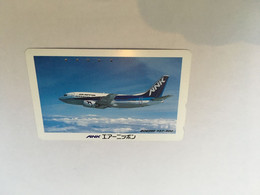 (1 A 20) Phonecard - Japan  - (1 Phonecard)  Japan ANK Boeing 737 - Aerei