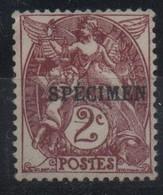 France Maury C.I. 63 (Yvert 108-CI 3) ** Blanc Chocolat Signé A. Brun - Cours D'Instruction