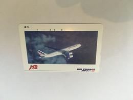 (1 A 20) Phonecard - Japan  - (1 Phonecard)  Air France  - JTB - Aerei