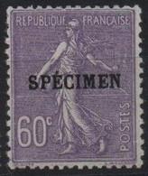 France Maury C.I. 70 (Yvert 200-CI 1) * Semeuse Lignée 60c - Cours D'Instruction