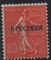 France Maury C.I. 71 (Yvert 203-CI 1) * Semeuse Lignée 80c - Cours D'Instruction