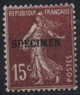 France Maury C.I. 73 (Yvert 189-CI 1) * Semeuse Camée 15c - Cours D'Instruction