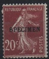 France Maury C.I. 74 (Yvert 139-CI 3) * Semeuse Camée 20c - Cours D'Instruction