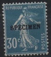 France Maury C.I. 76 IIA (Yvert 192-CI 1) * Semeuse Camée 30c - Cours D'Instruction