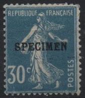 France Maury C.I. 76 IIAa (Yvert 192-CI 1) * Semeuse Camée 30c Sans Accent - Cours D'Instruction