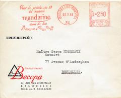 EMA F597 Bruxelles 1959 – Becopa – La Nuance Mandarine Dans Les Bas - ...-1959