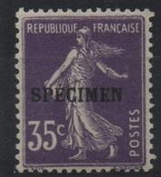 France Maury C.I. 77 (Yvert 142-CI 2) * Semeuse Camée 35c - Cours D'Instruction