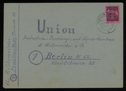 TREASURE HUNT [01408] SBZ Mecklenburg 1945 Cover Sent From Penzlin To Berlin Franked With 12 Pf Rose - Sovjetzone
