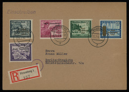 TREASURE HUNT [01423] Germany Locals-Strausberg 1946 Ovpted. Stamps On Reg. Cover Sent To Berlin, Multi-colour Franking - Unclassified